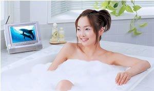 DVD sumergible para el baño