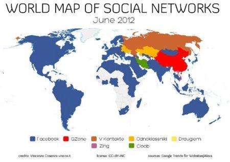 Facebook domina el tráfico global de las redes sociales