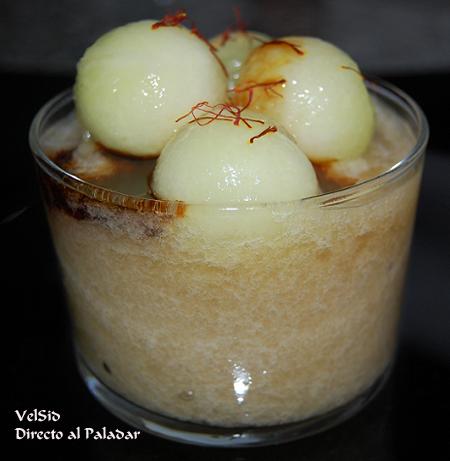 Sorbete de melón al Pedro Ximénez