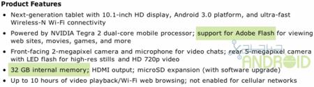 Motorola Xoom 32GB Wifi en Amazon.com