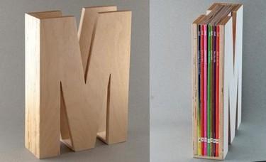 Pequeño accesorio para organizar revistas