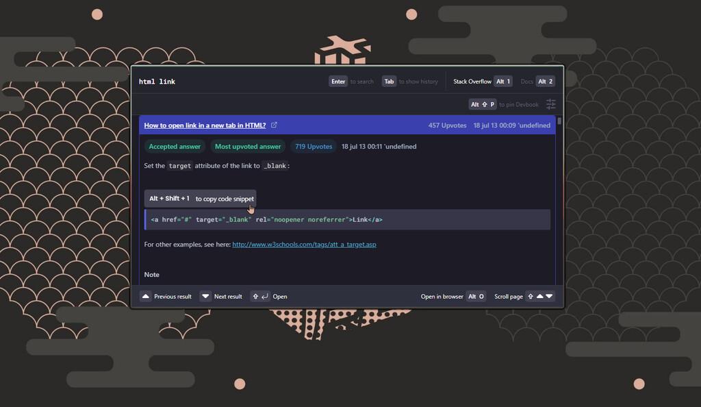 Devbook: un motor de búsqueda para desarrolladores accesible desde un editor de texto, muy rápido y que controlas con el teclado