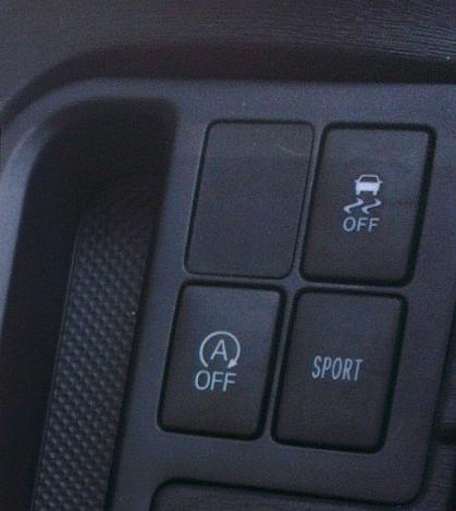 Toyota Yarus SoHo, pulsador modo sport