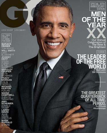 La parte fashion de Barack Obama: el presidente cierra el año en plena portada del número de diciembre de la revista GQ
