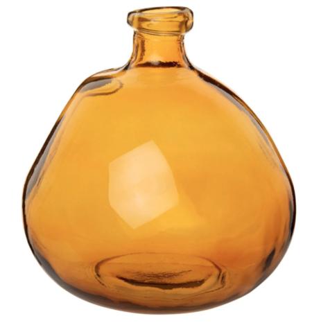 Jarron Damajuana De Cristal Ahumado Color Marron Envejecido 23 Cm