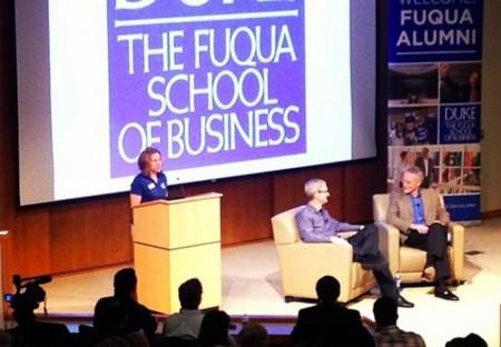 Imagen de la semana: Tim Cook da una charla en la universidad de Duke