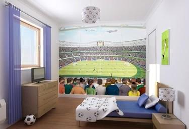 El mural perfecto para un aficionado al fútbol