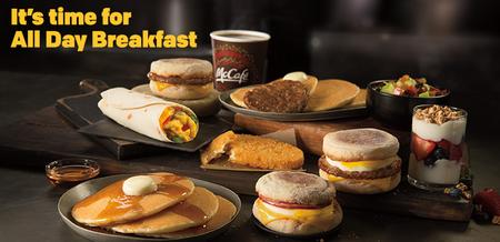 Mcdonalds All Day Breakfast Menu