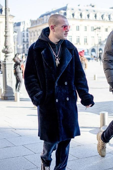 El Mejor Street Style De La Semana Trendencias Hombre Faux Fur Men Fall Winter 2019 10