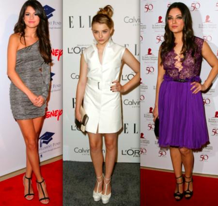 T Strap Heels Selena Gomez, Chloe Moretz, Mila Kunis