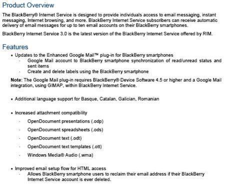 Actualización BIS 3.0 para BlackBerry la próxima semana