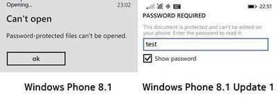 Office en Windows Phone ahora permite abrir documentos con contraseña