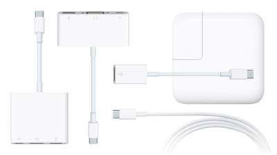 Apple lanza cinco adaptadores USB-C para el nuevo MacBook