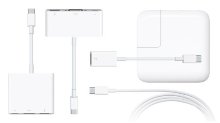 Apple lanza cinco adaptadores USB-C para el nuevo MacBook