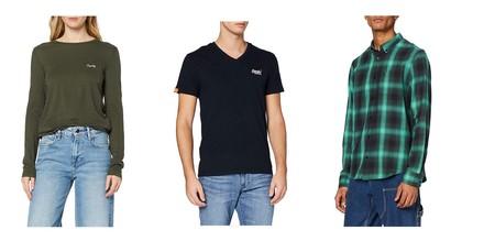 Chollos en tallas sueltas de camisetas, pantalones y sudaderas Superdry, Pepe Jeans o Lee en Amazon
