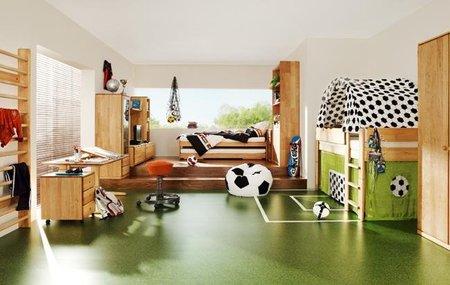 Dormitorios para pequeños aficionados al fútbol