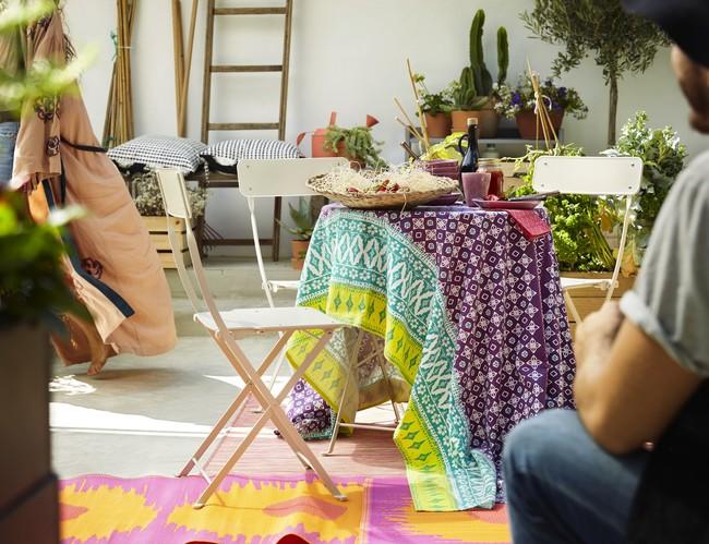 Ikea Novedades Muebles Verano 2017 Ph140183 Saltholmen Silla Plegable Mesa Exterior Acero Beige Mantel Algodon Lila Lowres