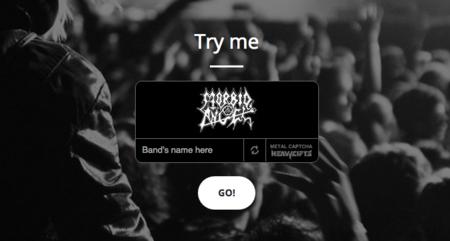 """El """"captcha"""" definitivo es el que te pone a prueba con logotipos de bandas de metal"""