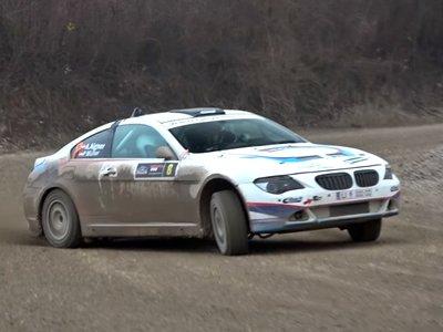 ¿Hacer rally con un BMW 650i? Claro que sí, sin complejos y con un sonido a V8 celestial