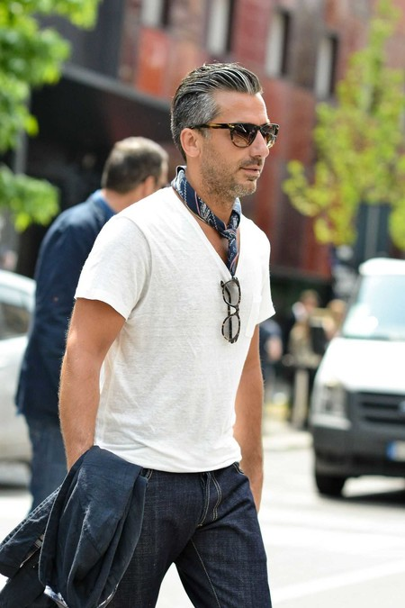 Panuelo Bandana Trendencias Hombre Street Style De La Semana 04
