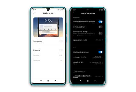 Xiaomi Mi Note 10 Modo Oscuro