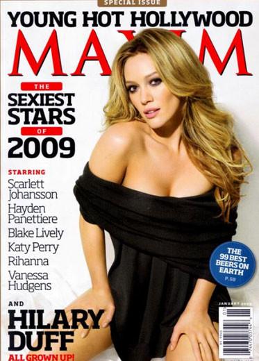 Hilary Duff sensual en Maxim