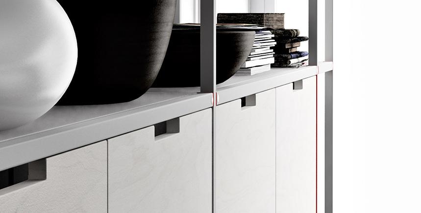 Foto de Meccanica, un sistema de almacenaje muy versátil y minimalista (20/21)