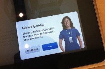 apple store avisar especialista ipad asistencia empleados