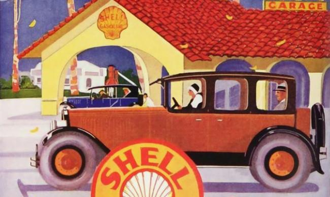 Anuncios clásicos de gasolineras