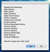 MacSanitize: Limpia del sistema tu rastro después de usar el Mac