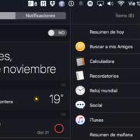 Centro de notificaciones de OS X, cómo sacarle un mayor partido