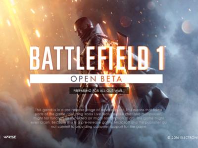 La Beta de Battlefield 1 no requiere una suscripción a PS Plus, pero sí a Xbox Live Gold