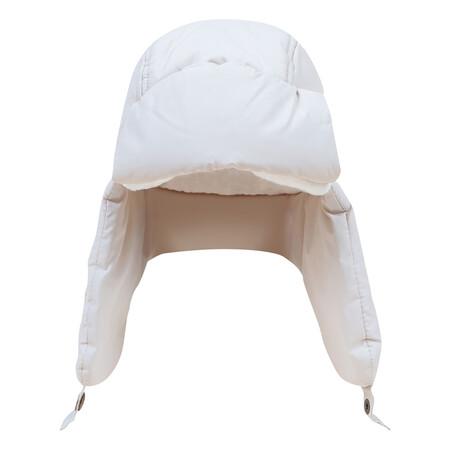 Gorro Con Orejeras Acolchado De Algodon OrganicoGorro con orejeras acolchado de algodón orgánico Blanco