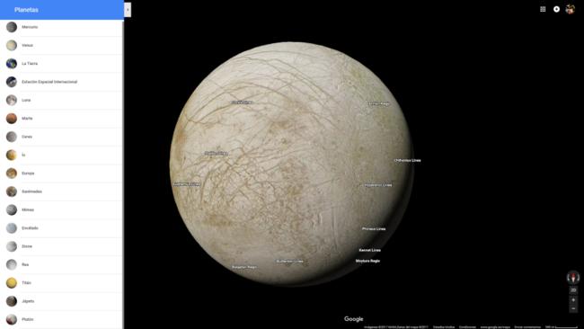 Lunas Y Planetas En Google Maps