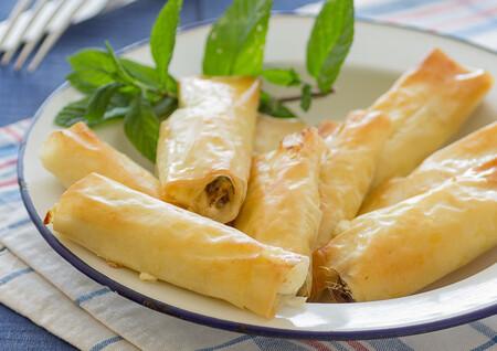 rollitos crujientes de queso crema y sardinas