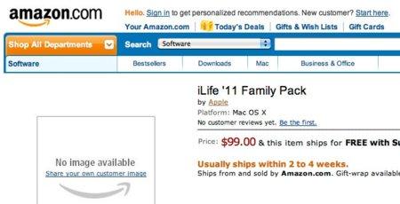 El paquete familiar de iLife '11 se deja ver en Amazon