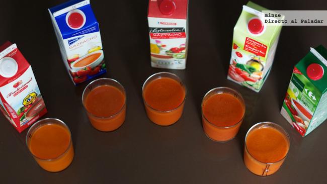 Comparativa gazpachos de marca blanca - resumen