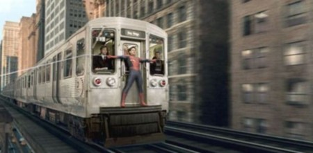 Spiderman y tren