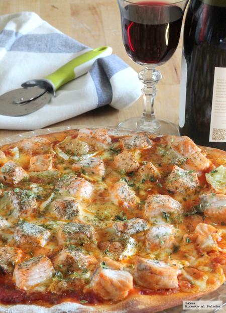 Pizza con Huevos en la masa