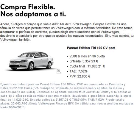 Financiación de Volkswagen Passat