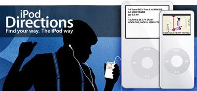 iPod Directions, mapas de Yahoo en tu iPod