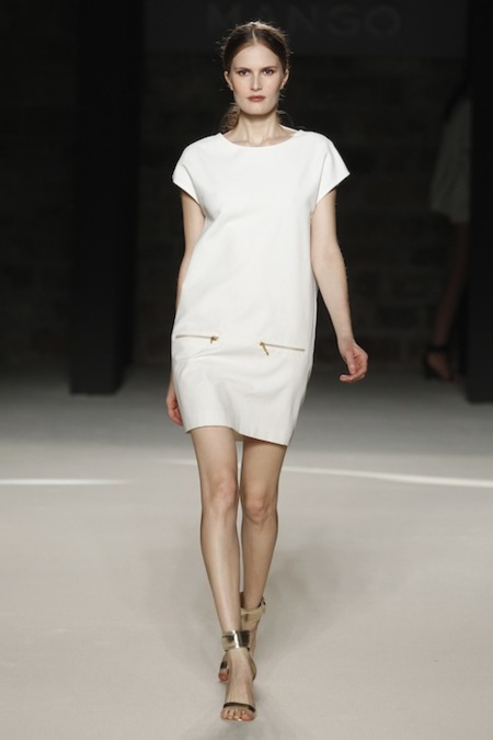 Vestido blanco de Mango