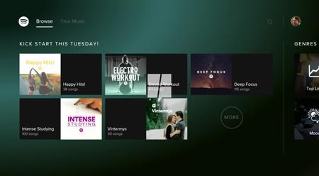 Esta será la apariencia que tendrá la aplicación de Spotify en Xbox One