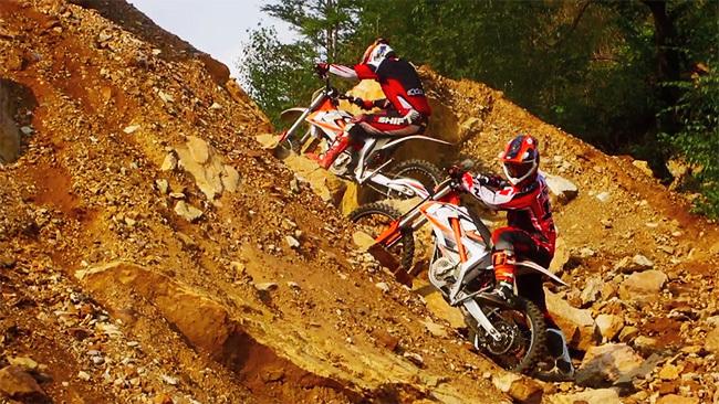 KTM Freeride E en Erzberg
