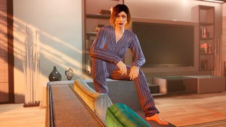 Gta Online Pijama Azul Marino Rayas