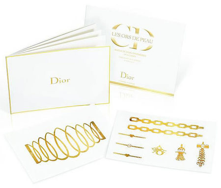 Dior Golden Tatoo, tatuajes Dior en oro de 24 quilates