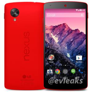 Google Nexus 5 en color rojo podría ser una realidad