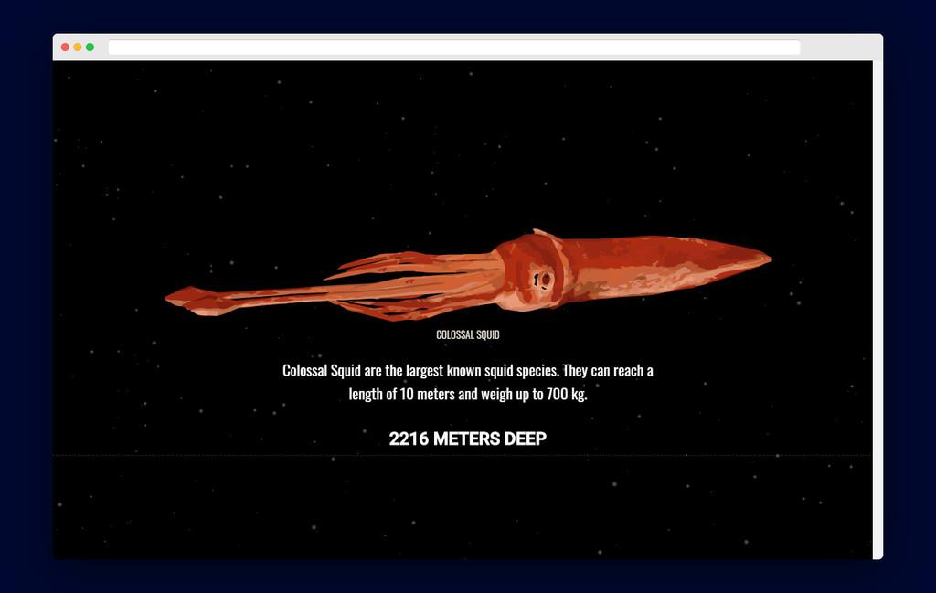 The Deep Sea: una web interactiva para explorar las profundidades el mar y descubrir las extrañas criaturas que viven en él