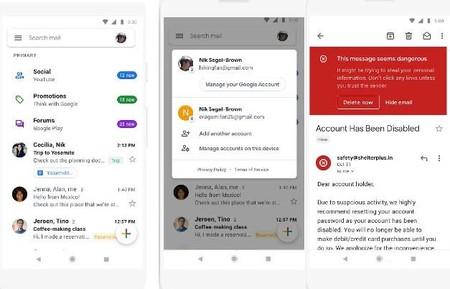 La app de Gmail estrena diseño y se vuelve más blanca que nunca