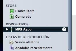 Apple ofrecerá compatibilidad con el MP3 Aypo en la próxima actualización de iTunes 7